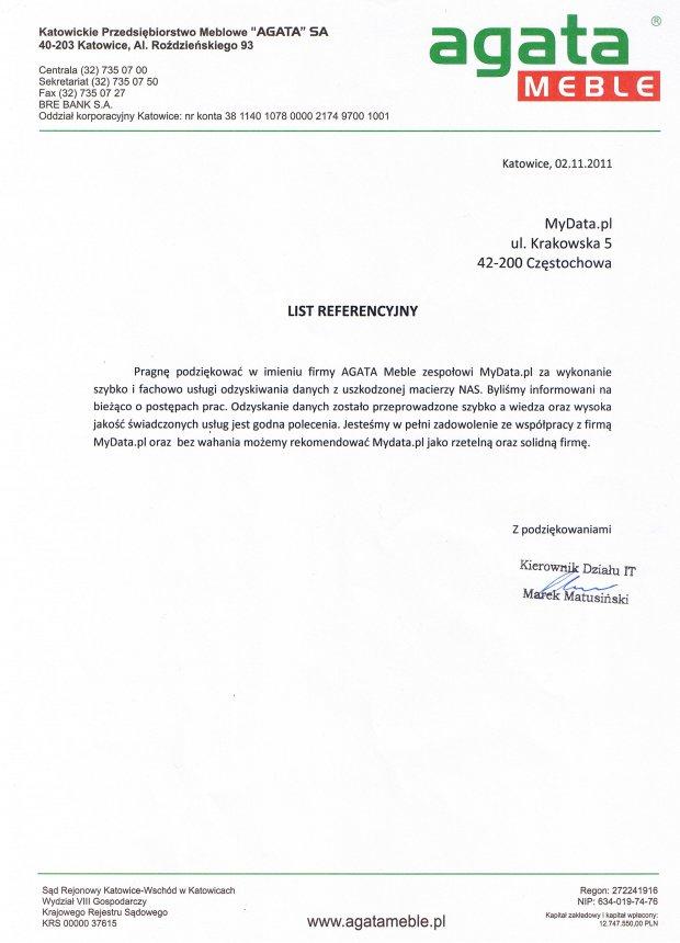Referencje-AGATA