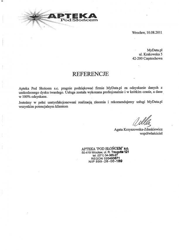 Referencje-AptekaPodSloncem