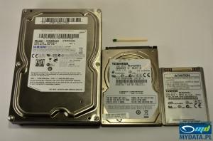Toshiba MK3008GAL, Samsung HD204UI, Toshiba MK6459GSX size comparison