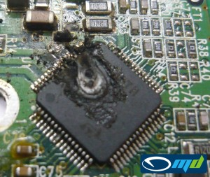 Western Digital Sabre PCB damage