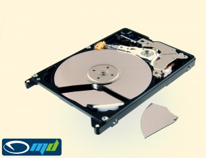 Dropped HDD, broken platter
